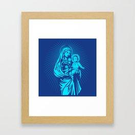 mary mother of god  Framed Art Print