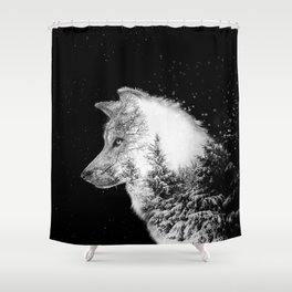 Winter Wolf Shower Curtain