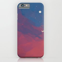 A Lone Flight Amongst The Pastel Unknown. iPhone Case