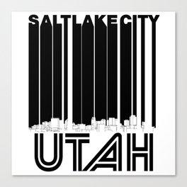 Retro Salt Lake City Utah Skyline Canvas Print