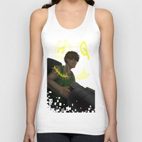 gundam Tank Tops featuring Who is My Enemy? - Gundam Wing Print by PinStripes Studios