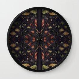 Tropical Latticework Pattern Wall Clock