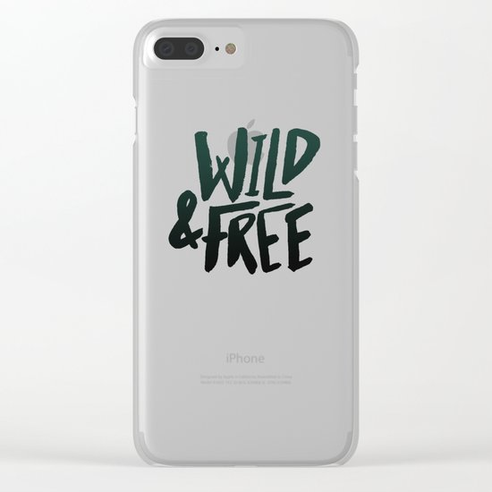 Wild & Free x Olive Green Clear iPhone Case