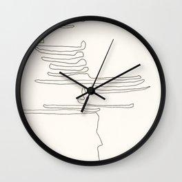 Abstract Line No. 100 Wall Clock