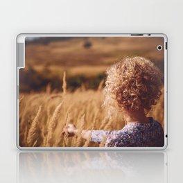 Girl in the field Laptop & iPad Skin