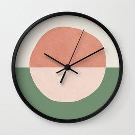 Horizon Abstract - Pink Wall Clock