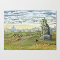 shadow of the colossus Canvas Prints featuring Shadow of the Colossus by mixedlies