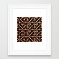 arabic Framed Art Prints featuring Arabic Tiles by Barbo's Art