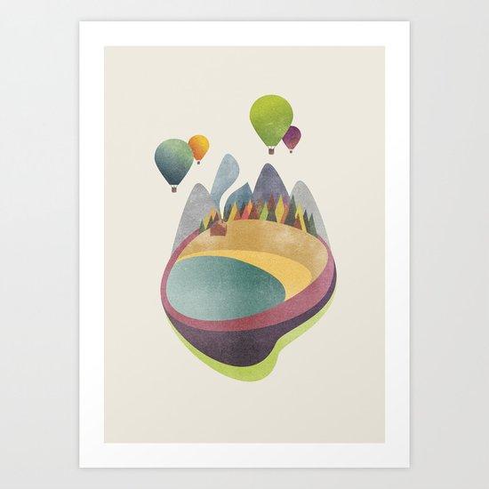 Balloons above Little Beach Art Print