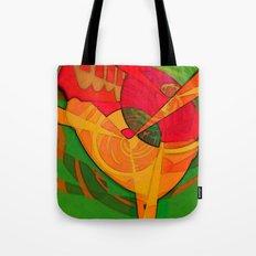 Tropical Farm Woman Tote Bag