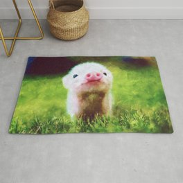 CUTE LITTLE BABY PIG PIGLET Rug