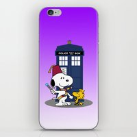 snoopy iPhone & iPod Skins featuring Snoopy Who by plasticdoughnut