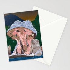 Hippo Rain Stationery Cards