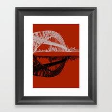 sydney in blue Framed Art Print