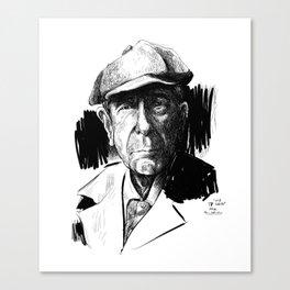 Leonard Cohen (poet, musician) Canvas Print