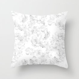 Soft White Country Home Southern Buttercup Flowers Pattern  Throw Pillow