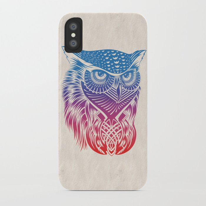 Owl of Color iPhone Case