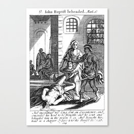 John the Baptist Beheaded Canvas Print