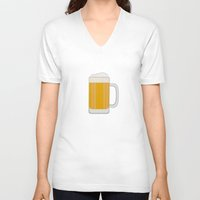 beer V-neck T-shirts featuring Beer  by Cute to Boot