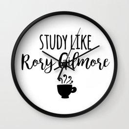 Gilmore Girls - Study like Rory Gilmore Wall Clock