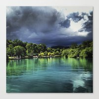 jamaica Canvas Prints featuring Jamaica  by Lawrence Gregorek