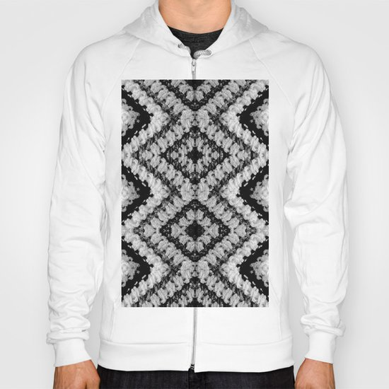 Black White Diamond Crochet Pattern Hoody