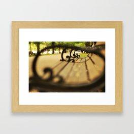 Boston Park Bench Framed Art Print