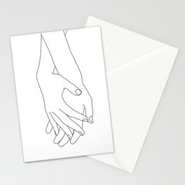 Holding hands illustration - Elana White Stationery Cards