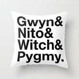 The 4 Rock stars Throw Pillow