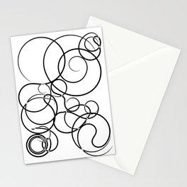 Motif Abstrait Lignes Stationery Cards