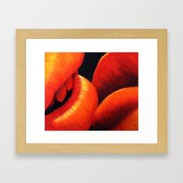 Kissing Lips Framed Art Print