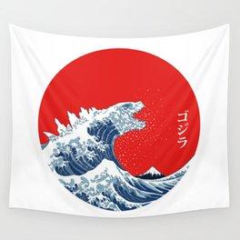 Great Wave off Kanagawa Circle Wall Tapestry