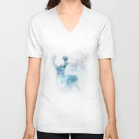 stag V-neck T-shirts featuring stag by Tati