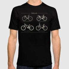 Italicycles - Bikes Made from Italic Fonts SMALL Black Mens Fitted Tee