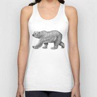 polar bear Tank Tops featuring Polar Bear by Tim Jeffs Art