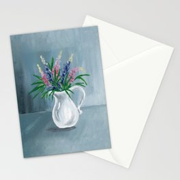 Pitcher of Lupins Stationery Cards
