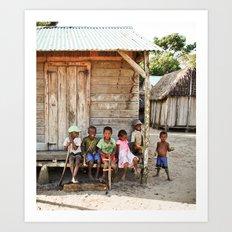 Kids in Madagascar Art Print