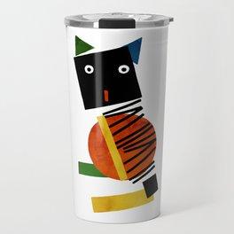 Black Square Cat - Suprematism Travel Mug