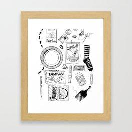 Trash Framed Art Print
