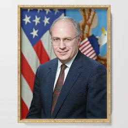 Official portrait of Secretary of Defense Richard B. Cheney Serving Tray