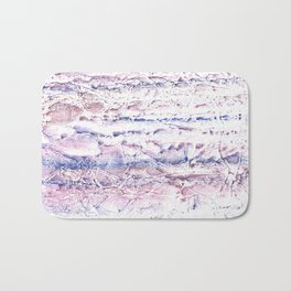 Blue purple marble hand-drawn watercolor pattern Bath Mat