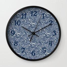 Blue Cabbage Labyrinth Wall Clock