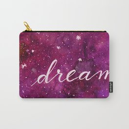 Watercolor galaxy dream - purple Carry-All Pouch