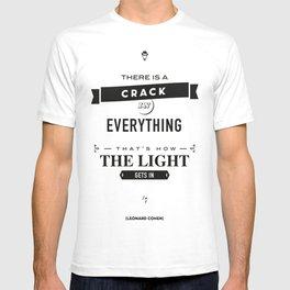 Leonard Cohen, Motivational Quote T-shirt