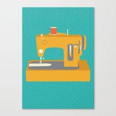 Sewing Machine Yellow Canvas Print