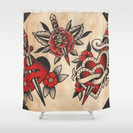 hearts and daggers Shower Curtain