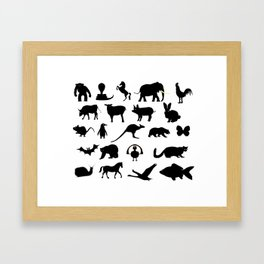 Animals Collection Silhouette Framed Art Print