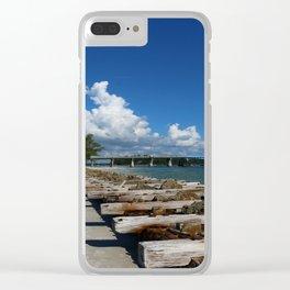 Drawbridge Over Longboat Pass Clear iPhone Case