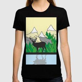 Mountain Deer #society6 #decor #buyart #artprint T-shirt