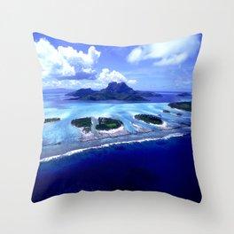 Bora Bora Island Tropical Paradise Throw Pillow